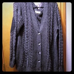 Olive & Oak Elbow Patch Cardigan